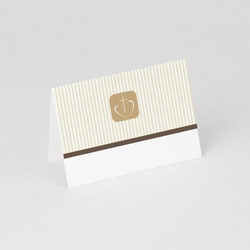 Tischkarten Kommunion Braun 1 gratuit