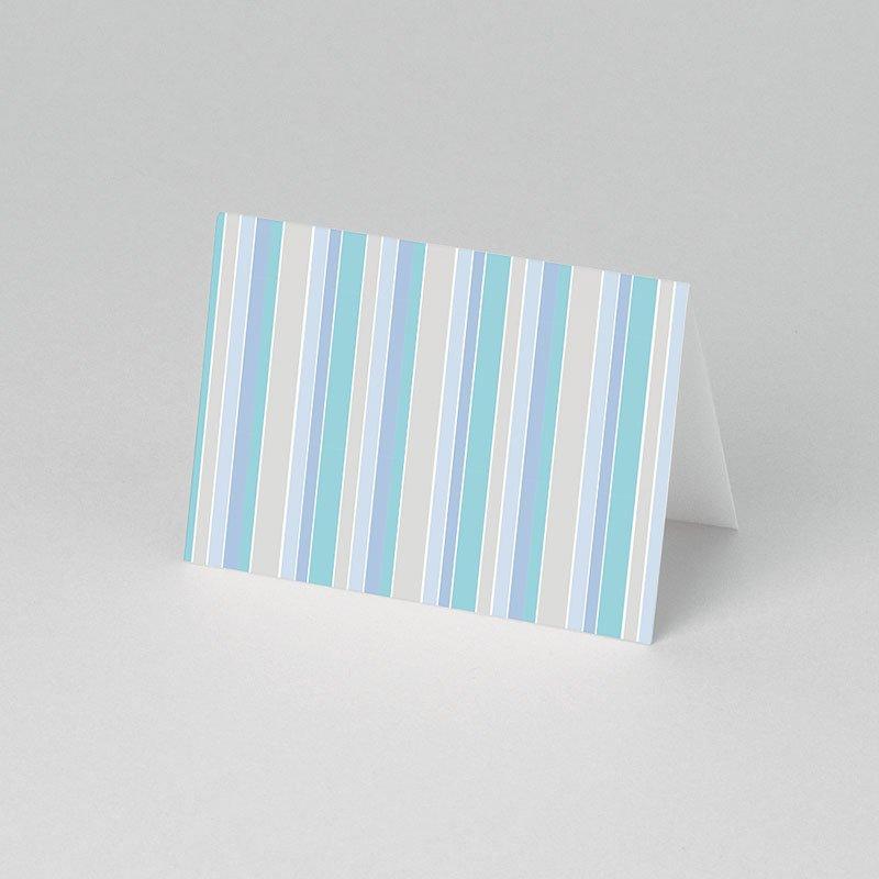 Tischkarten Kommunion Blaue Streifen 1 pas cher