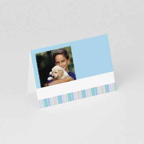 Tischkarten Kommunion Blaue Streifen 1 gratuit