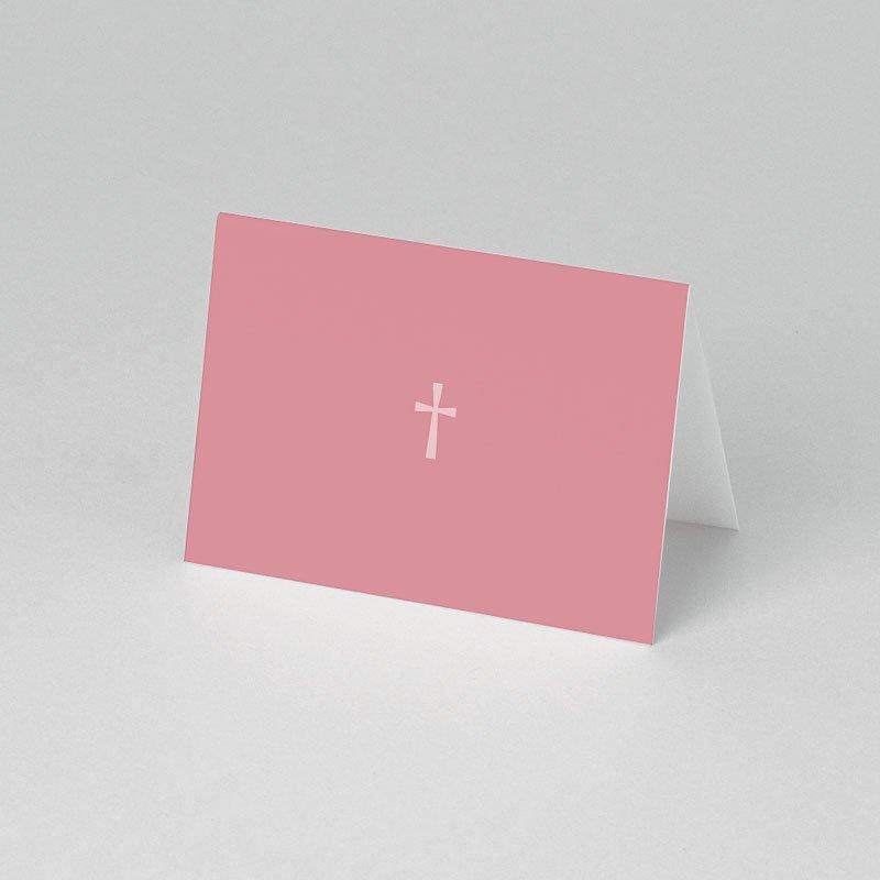 Tischkarten Taufe Pink pas cher