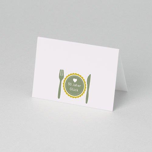 Tischkarten Geburtstag Glücksrezept pas cher