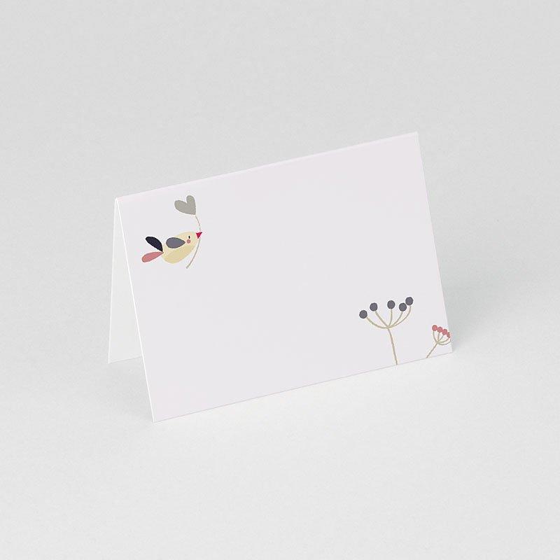 Tischkarten Geburtstag Vogelhochzeit gratuit