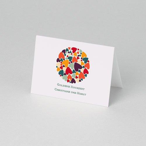 Tischkarten Geburtstag Liebesherzen pas cher
