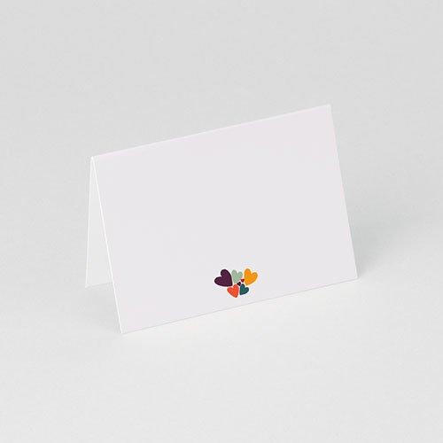 Tischkarten Geburtstag Liebesherzen gratuit