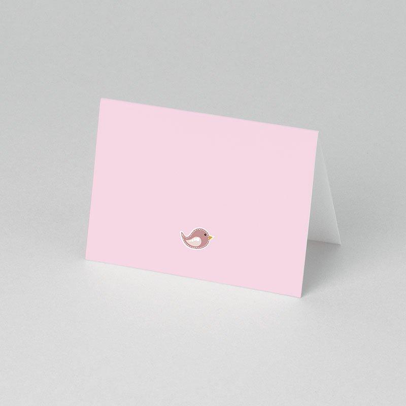 Einladungskarten Taufe für Mädchen Vögelchen pas cher