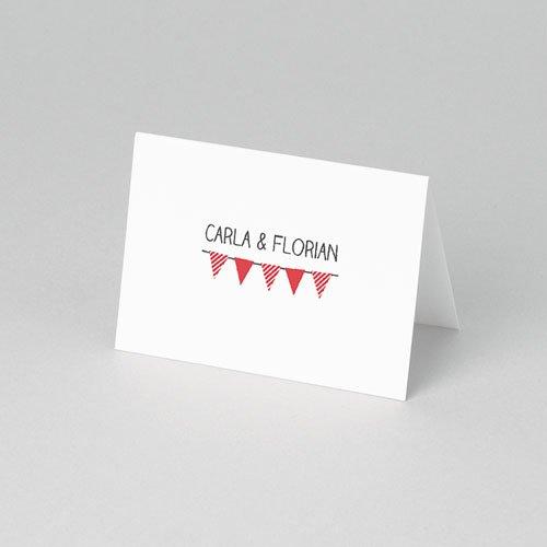 Tischkarten Hochzeit personalisiert Ambiente Vichy pas cher
