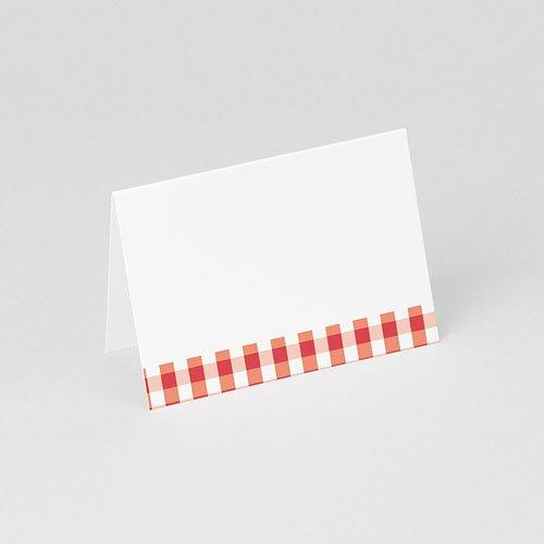 Tischkarten Hochzeit personalisiert Ambiente Vichy gratuit