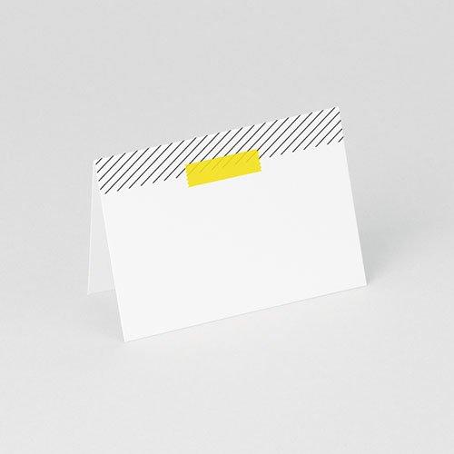 Tischkarten Hochzeit personalisiert Neon Gelb gratuit