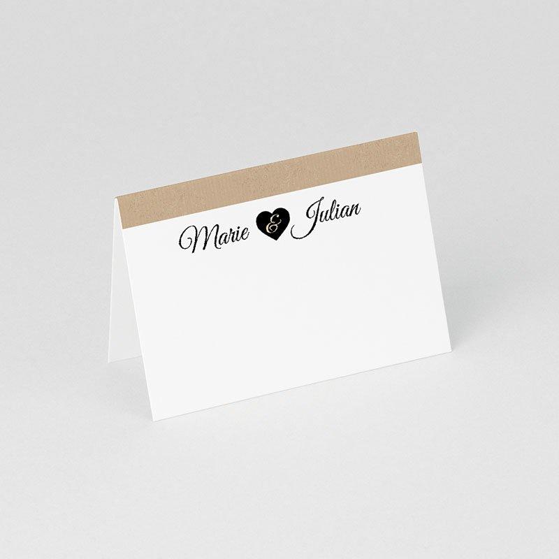 Tischkarten Hochzeit personalisiert Liebesglück gratuit