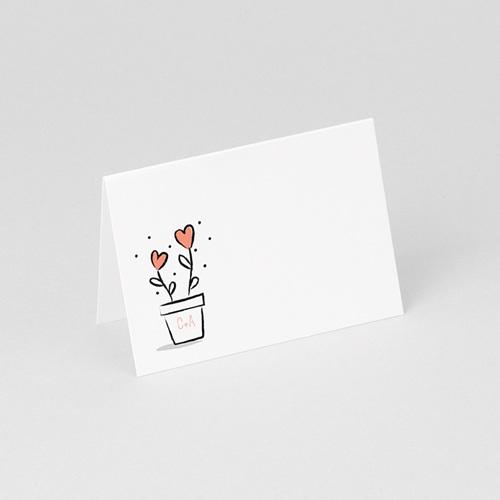 Tischkarten Hochzeit 2 Herzen gratuit