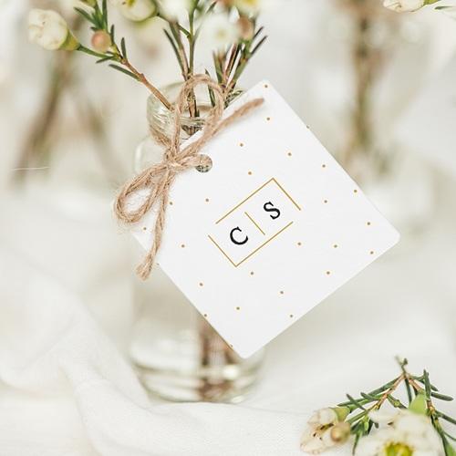 Geschenkanhänger Hochzeit Goldzauber