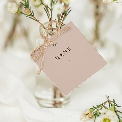 Tischkarten Hochzeit Nude Chic