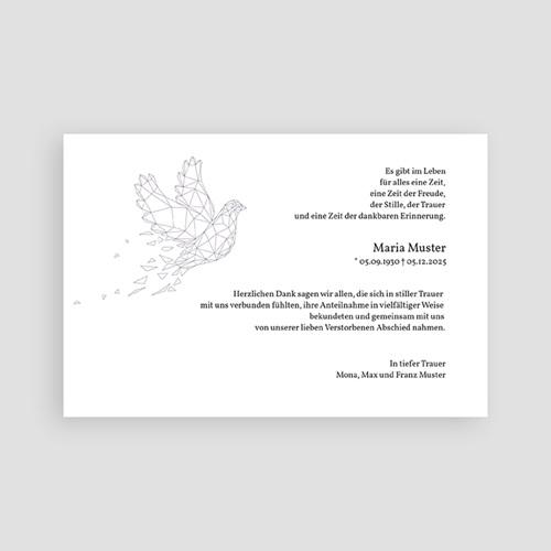Weltlich Dankeskarten Trauer Frieden pas cher