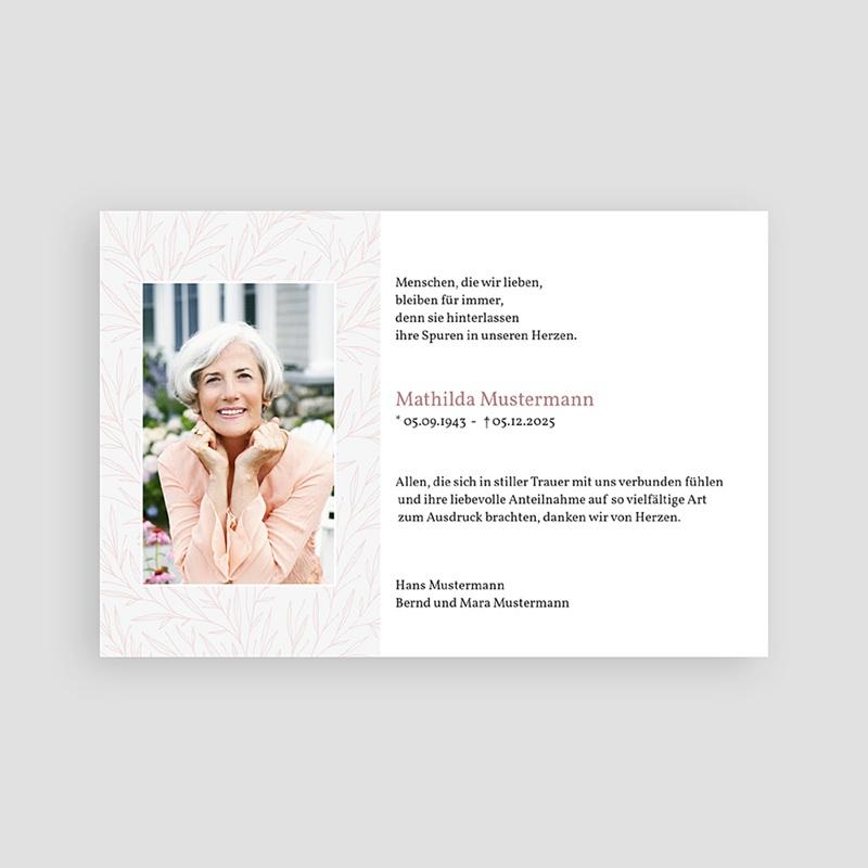 Weltlich Dankeskarten Trauer Rosenblätter  pas cher