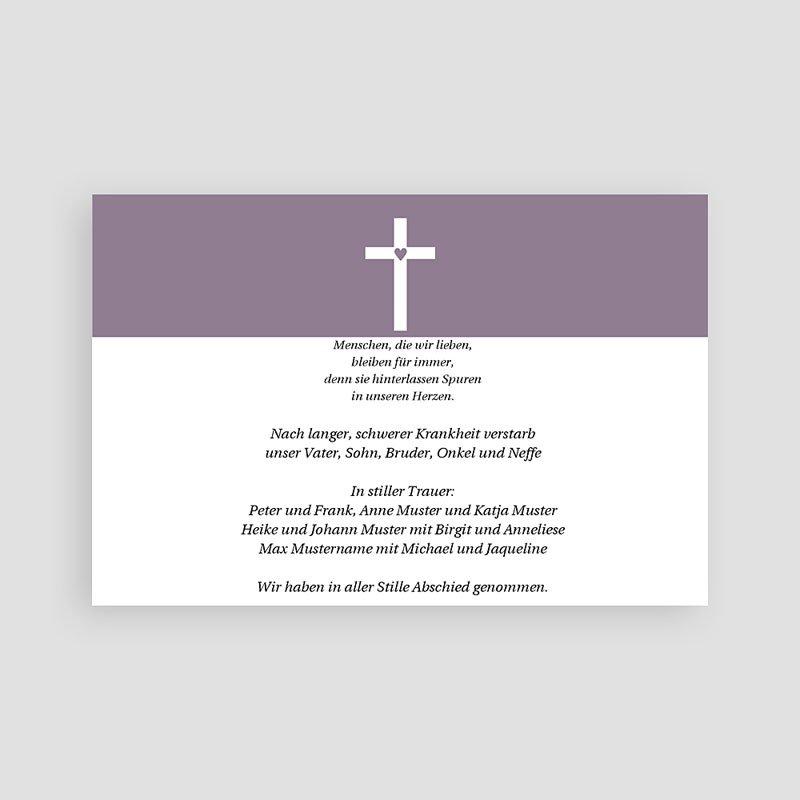 Christlich Dankeskarten Trauer Betende Hände pas cher