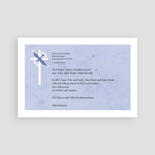 Christlich Dankeskarten Trauer Taube vor dem Kreuz pas cher