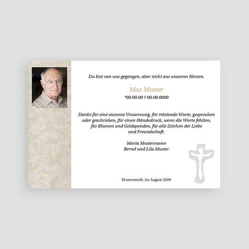 Christlich Dankeskarten Trauer Trauerkarte mit Kreuz pas cher