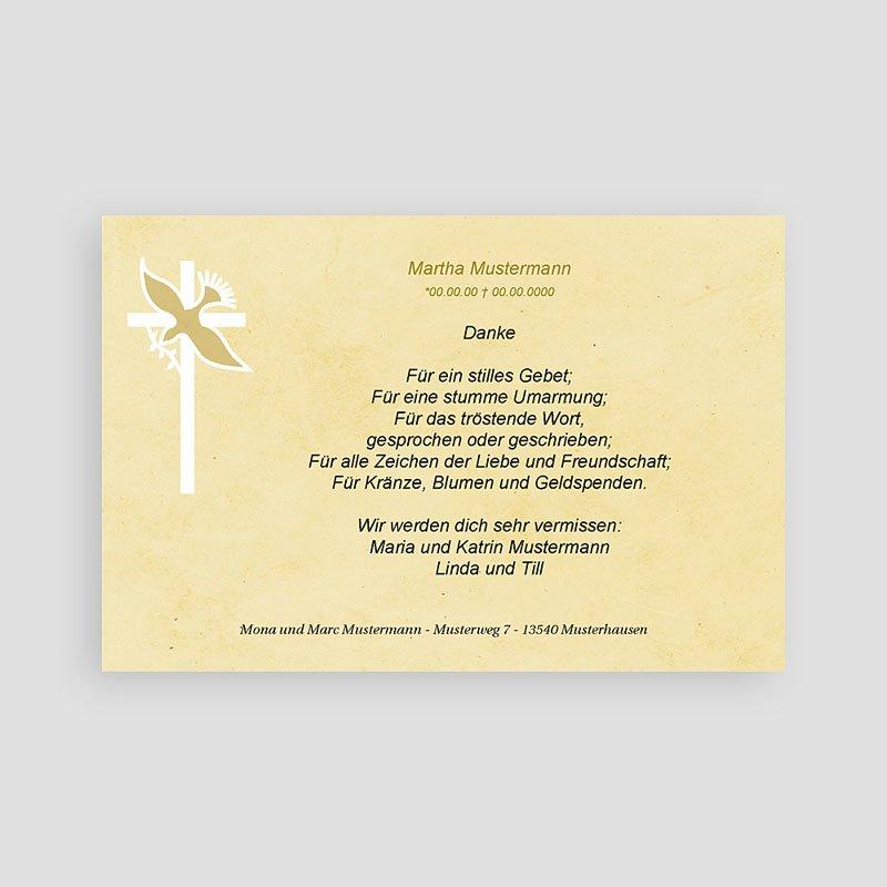 Christlich Dankeskarten Trauer Taube mit Olivenzweig pas cher