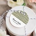 Geschenkanhänger Hochzeit Streifen & Gelb gratuit