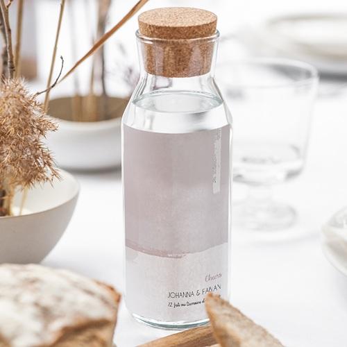 Flaschenetiketten Hochzeit Rose Quarz gratuit