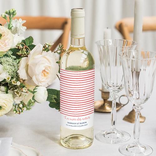 Flaschenetiketten Hochzeit So french