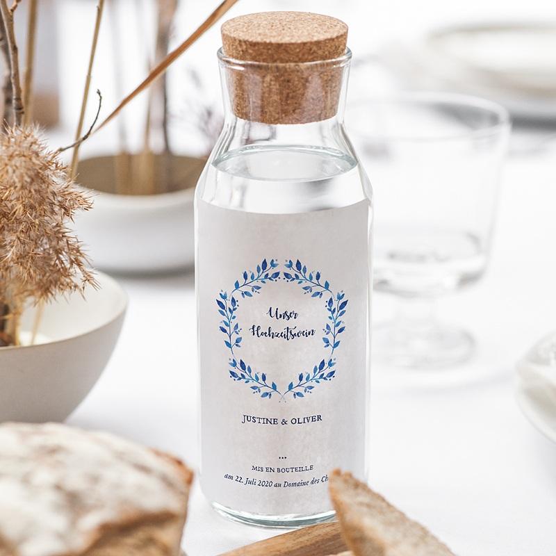 Flaschenetiketten Hochzeit Mediterran gratuit