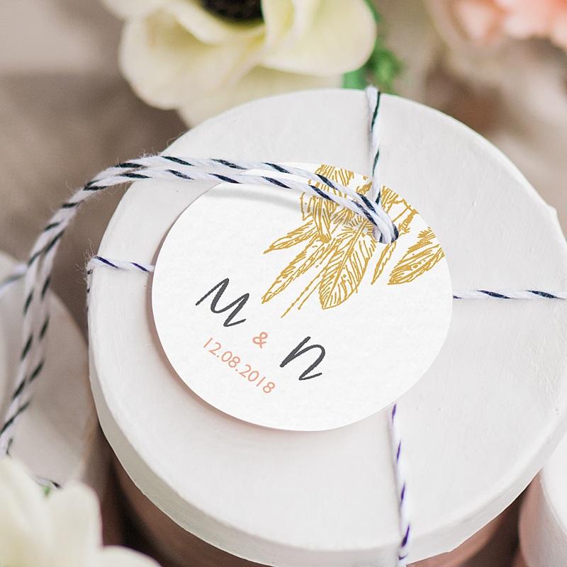 Geschenkanhänger Hochzeit Boho Natur gratuit
