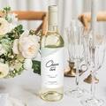 Flaschenetiketten Hochzeit Mint & Gold