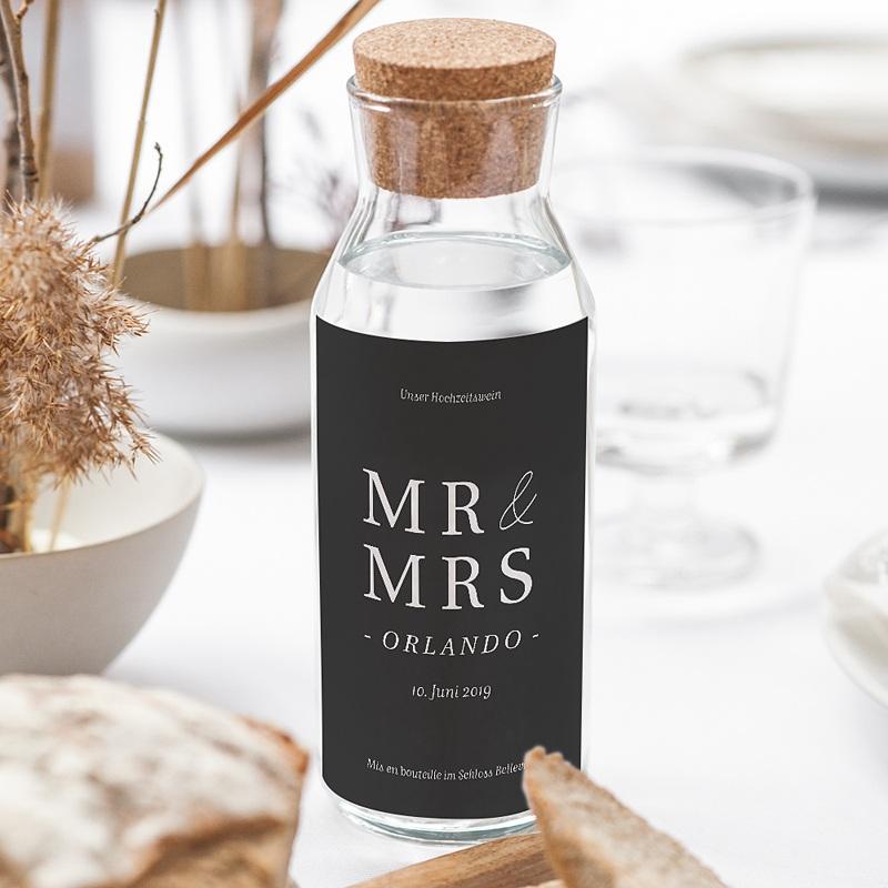 Flaschenetiketten Hochzeit Typografisch und Form gratuit