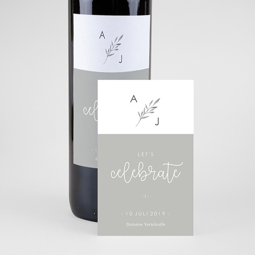Flaschenetiketten Hochzeit Olivenzweige Aquarell pas cher