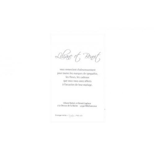 Alle Dankeskarten Hochzeit - Danksagungkarte elegant 7543