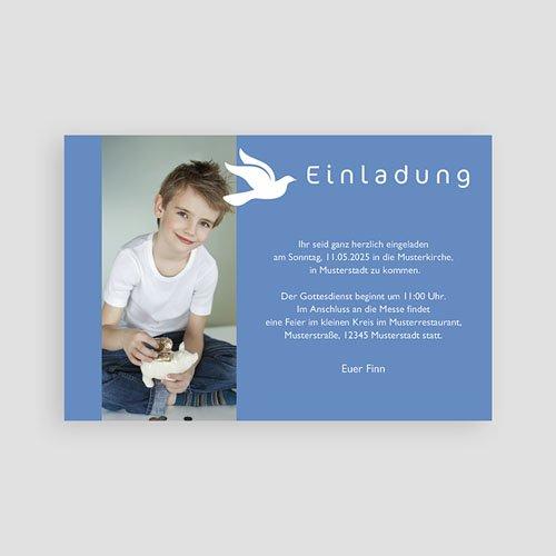 Einladungskarten Kommunion fur Jungen Symbol Taube pas cher