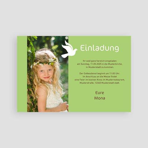 Einladungskarten Kommunion fur Mädchen Weisse Taube pas cher