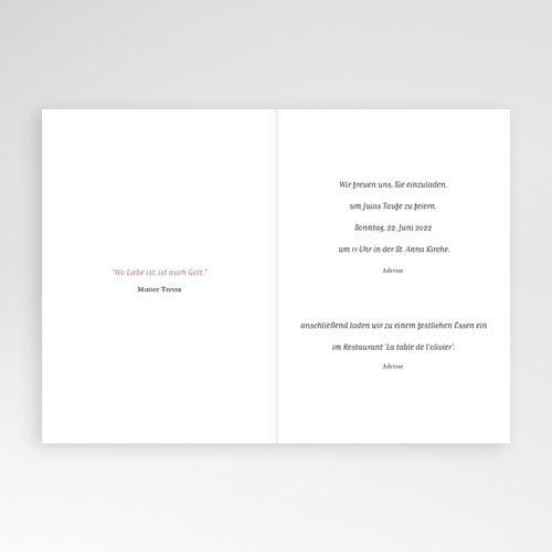Einladungskarten Taufe mit Fotos Brush Rosa pas cher