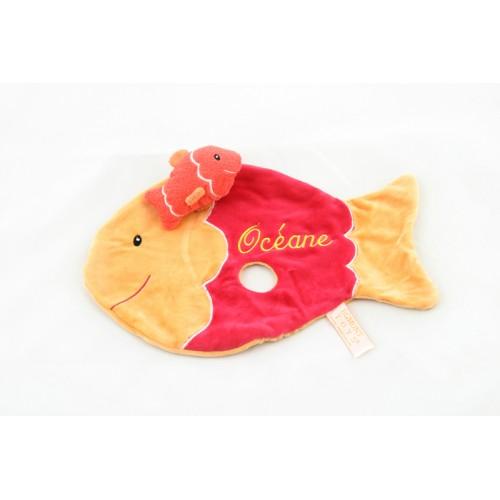 Schmusetücher mit Namen bestickt - Fisch 7619