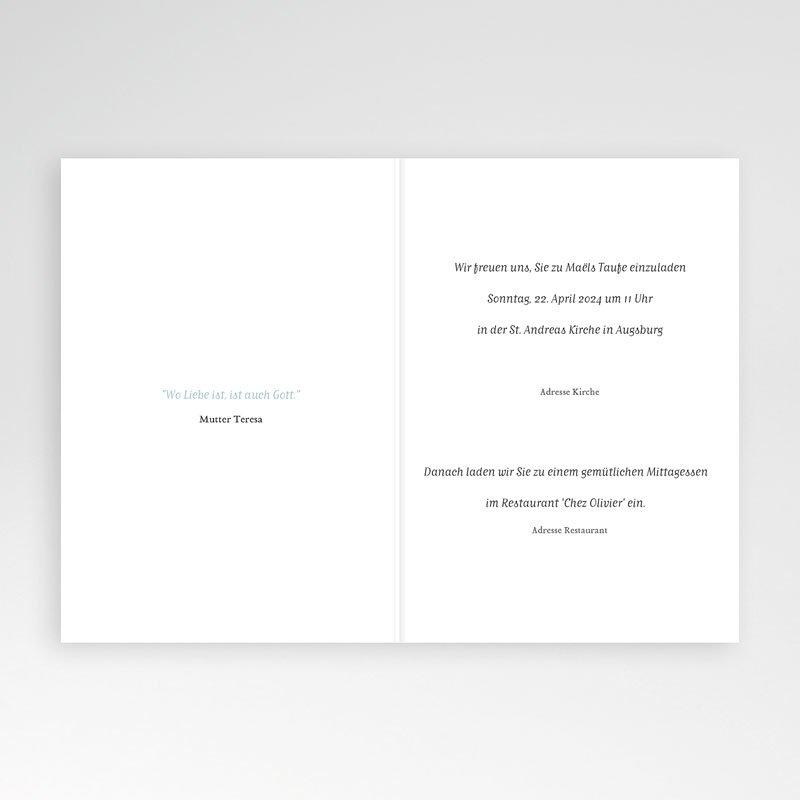 Einladungskarten Taufe für Jungen Brush Blau pas cher