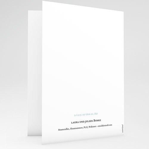 Einladungskarten Taufe für Jungen Brush Blau gratuit