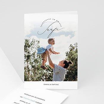 Einladungskarten Taufe mit Fotos Baptiste
