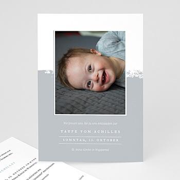 Einladungskarten Taufe mit Fotos - Brush-Effekt - 0