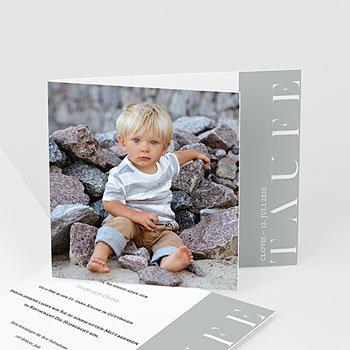 Einladungskarten Taufe mit Fotos Ice blue