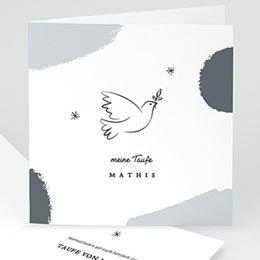 Taufkarten religiös Heilige Taube