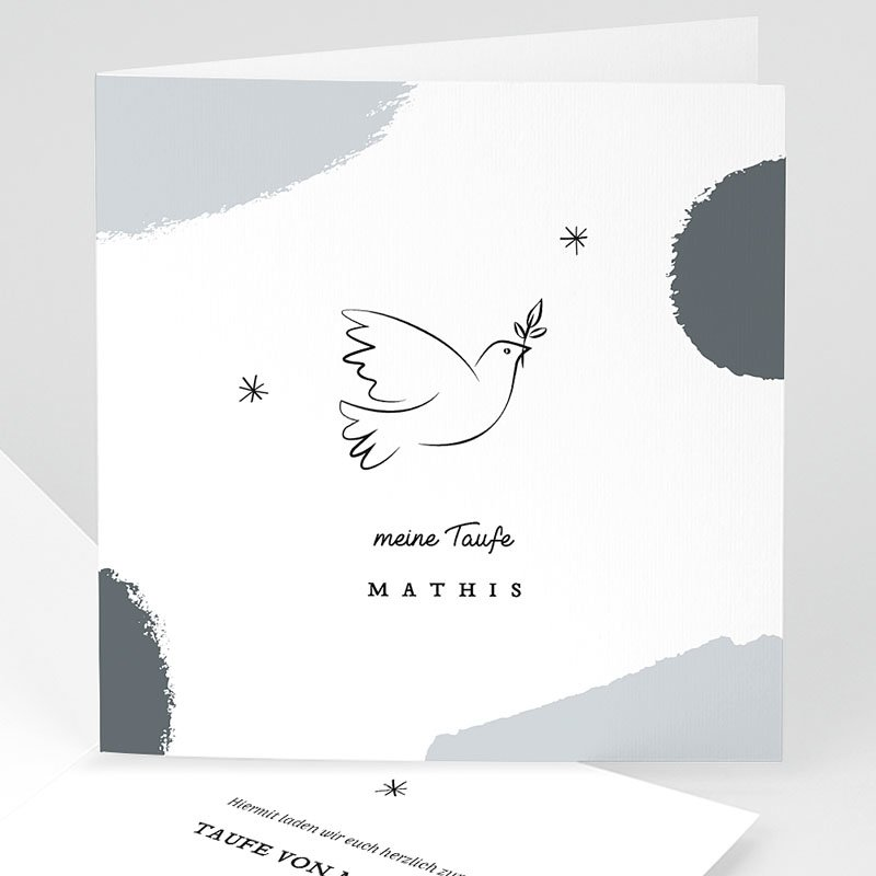 Religiös Einladungskarten Taufe Heilige Taube