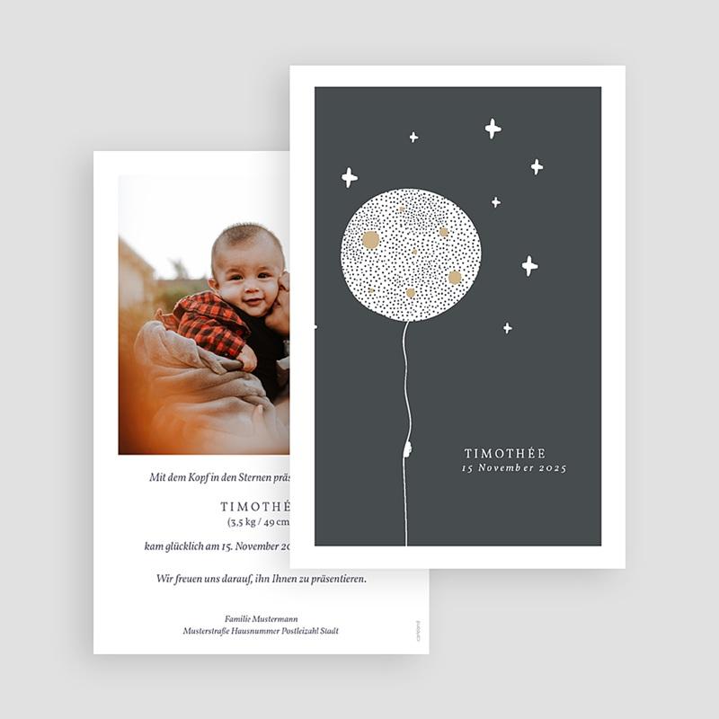 Kreative Geburtskarten Magischer Mond gratuit