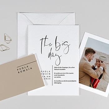 Hochzeitskarten Kraftpapier - Handschrift - 0