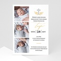 Einladungskarten Taufe mit Fotos Light