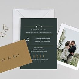 Einladungskarten Hochzeit  Grün & Kraft