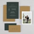 Hochzeitseinladungen Grün & Kraft gratuit