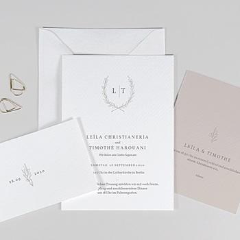 Einladungskarten Hochzeit  - Kinfolk Blume - 0