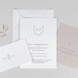 Einladungskarten Hochzeit  Kinfolk Blume
