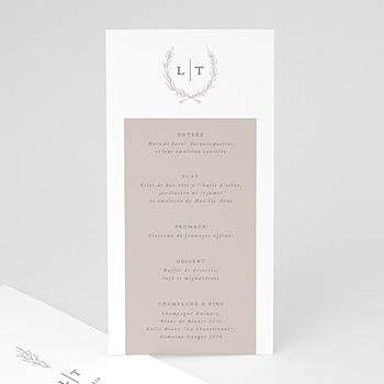 Menükarten Hochzeit - Kinfolk Blume - 0